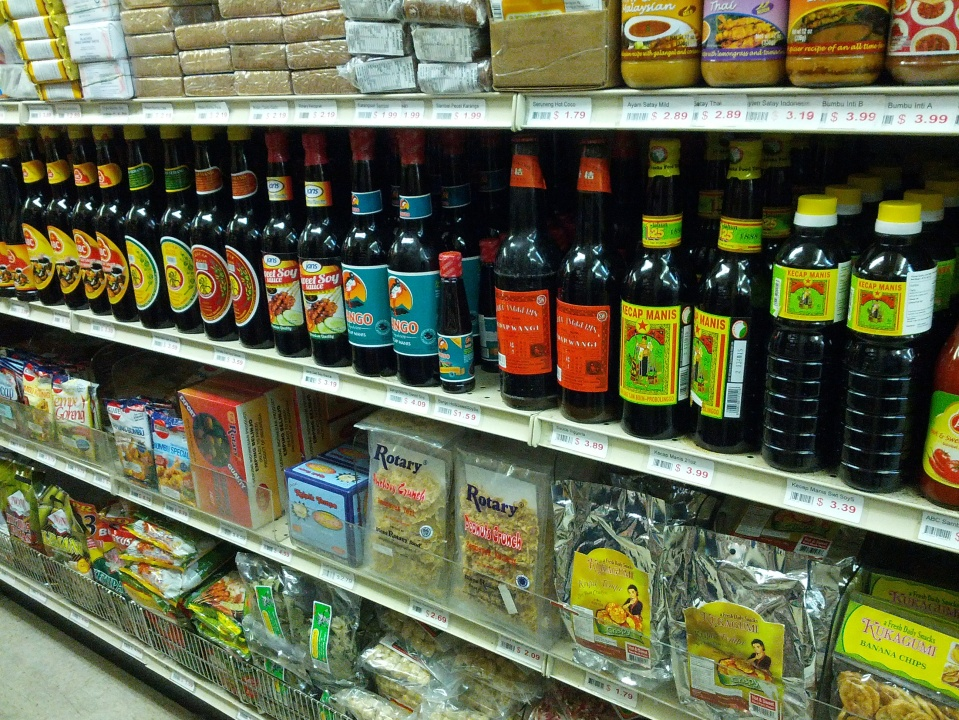 The turning point: every bottle pictured is kicap manis.