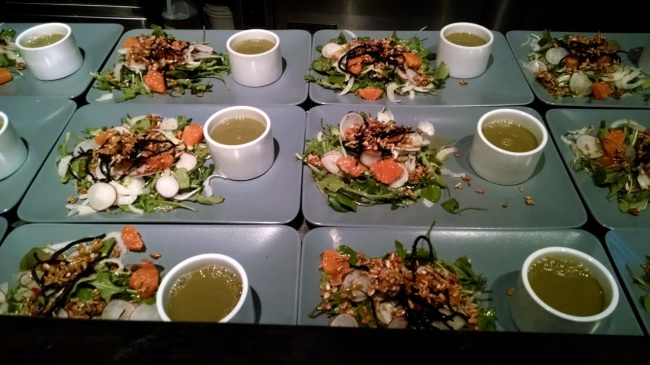 Soup and salad course